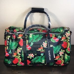 bebe Aria Weekender Duffel Tropical Floral Bag